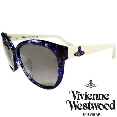 Vivienne Westwood 英國薇薇安魏斯伍德大理石紋面土星太陽眼鏡(紫+白) VW85904