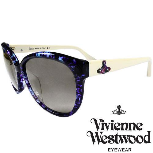 Vivienne Westwood 英國薇薇安魏斯伍德大理石紋面土星太陽眼鏡^(紫 白^)