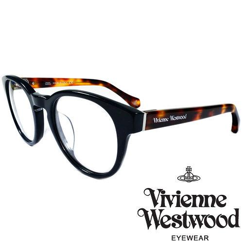 Vivienne Westwood 英國薇薇安魏斯伍德 LOGO復古圓框光學眼鏡^(紅琥珀