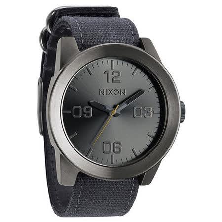 NIXON The CORPORAL 粗曠潮流時尚運動腕錶-灰藍