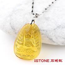 石頭記 不動尊菩薩項鍊- 黃水晶(生肖雞)