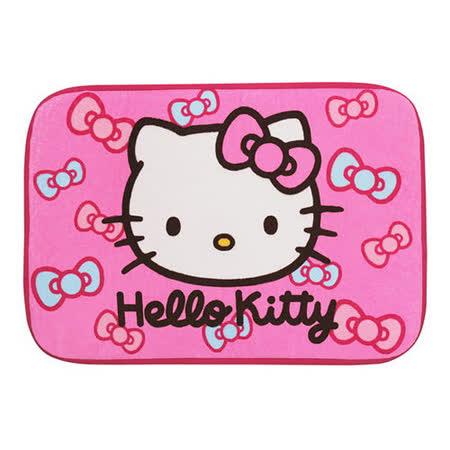 Hello Kitty蝴蝶結絨毛地墊-紅色(KT-0607A)