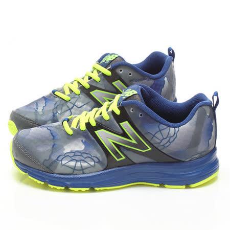 童鞋城堡-NewBalance大童輕量水墨風運動鞋KJ891B6G-藍