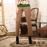 【麥雪爾】都會時尚~韓風俐落簡約西裝九分褲-共兩色