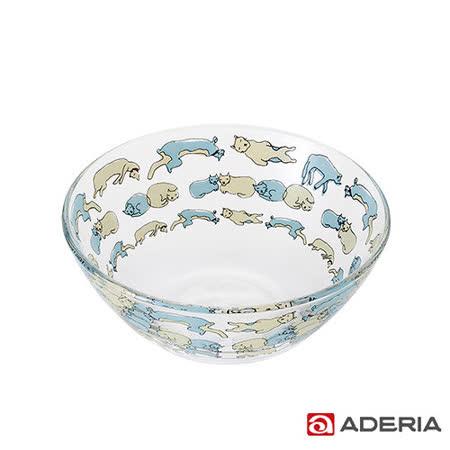 【ADERIA】日本進口Instyle貓咪玻璃碗(午睡款)