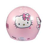 Hello Kitty 愛心 兒童安全帽-大童/粉紅(CA003-55)
