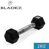 【Bladez】六角包膠啞鈴-1KG