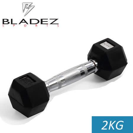 【Bladez】六角包膠啞鈴-2KG