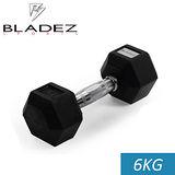 【Bladez】六角包膠啞鈴-6KG