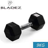 【Bladez】六角包膠啞鈴-9KG