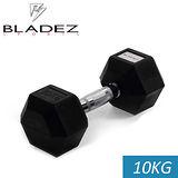 【Bladez】六角包膠啞鈴-10KG