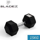 【Bladez】六角包膠啞鈴-15KG