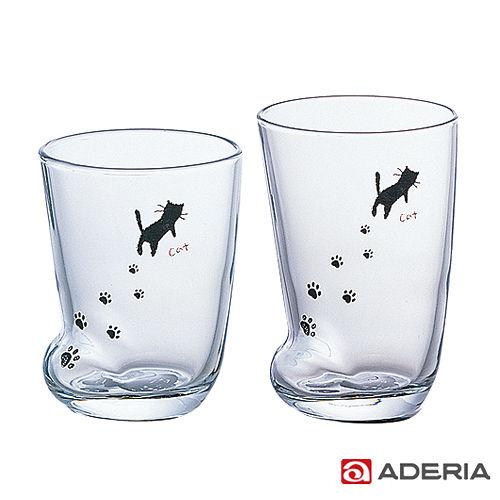 ~ADERIA~ 足跡玻璃杯套組^(貓款^)