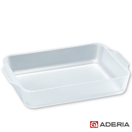 【ADERIA】日本進口長方型陶瓷塗層耐熱玻璃烤盤
