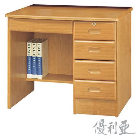 【優利亞-路易絲多功能】3尺書桌下座(2色)