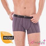 【Bfocus】七片式莫代爾貼身平口褲-紫色3890