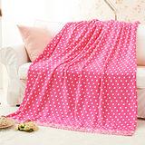 RODERLY-親膚保暖雪芙絨毯-粉色點點