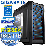 技嘉X99平台【聖域武煉】Intel i7六核 GTX970-4G獨顯 1TB燒錄電腦