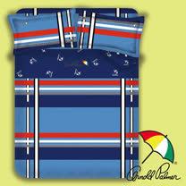 【Arnold Palmer雨傘】爵士格調-床包被套雙人四件組