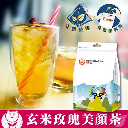 【台灣茶人】玄米玫瑰美顏茶3角立體茶包(養顏美容18包/袋)