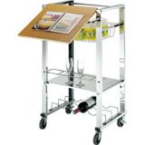 【IKLOO】可移式多功能收納架、可做行動餐車工作桌