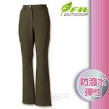 【維特 FIT】女新款 防潑彈性保暖長褲_FW2804 墨綠色