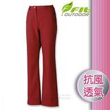 【維特 FIT】女新款 Softshell抗風保暖長褲_FW2807 酒紅色