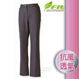 【維特 FIT】女新款 Softshell抗風保暖長褲_FW2807 碳灰色