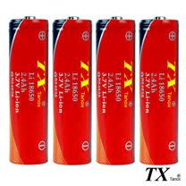 【特林TX】2.4Ah全新安全認證18650鋰充電池4入組(8-E18650-4)