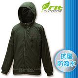 【維特 FIT】男新款 刷毛裡防潑水保暖抗風外套_FW1302 墨綠色