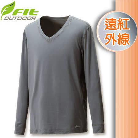 【維特 FIT】男新款 遠紅外線V領保暖內衣_FW1502 科技灰