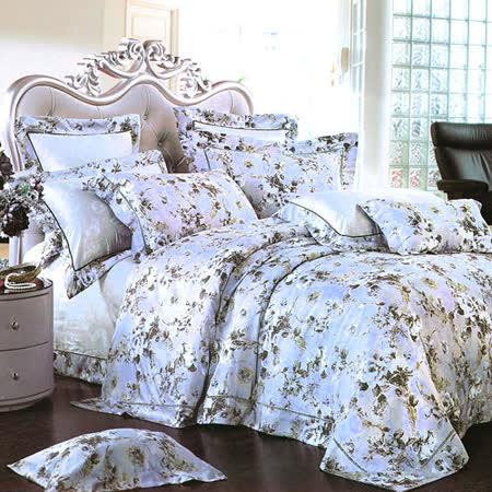 【Betrise安德莉亞】頂級100%特大60支長絨棉四件式兩用被床包組(被套8X7呎)