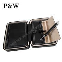 【P&W名錶收藏盒】【真皮皮革】2支裝 手工精品 旅行攜帶盒 錶盒+筆盒