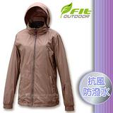 【維特 FIT】女新款 刷毛裡防潑水保暖抗風外套_FW2302 沙棕色