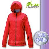 【維特 FIT】女新款 刷毛裡防潑水保暖抗風外套_FW2302 番茄紅