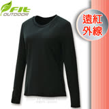 【維特 FIT】女新款 遠紅外線圓領保暖內衣_FW2501 經典黑