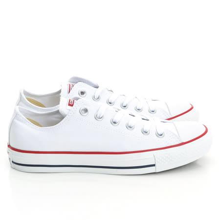 【CONVERSE】(男/女)經典膠底帆布鞋-白M7652C
