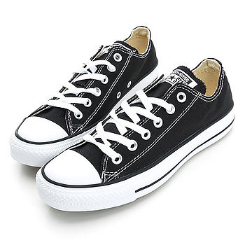 【CONVERSE】(男/女)經典膠底帆布鞋-黑M9166C
