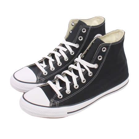 【CONVERSE】(男/女)經典膠底高筒帆布鞋-黑M9160C