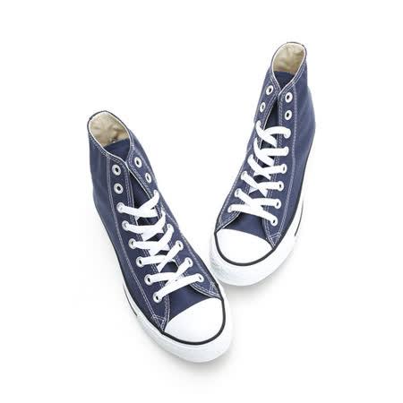 Converse 男/女鞋  經典膠底高筒帆布鞋-藍M9622C