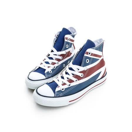 【CONVERSE】(男/女)經典款式英國國旗仿舊高筒鞋138449C
