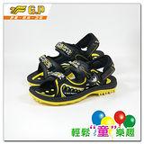 【G.P 大童織帶涼鞋33-37-尺碼】G9180B-33 多功能磁扣涼鞋(黃色共三色)
