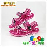 【G.P 大童織帶涼鞋33-37-尺碼】G9180B-45 多功能磁扣涼鞋(桃紅色共三色)