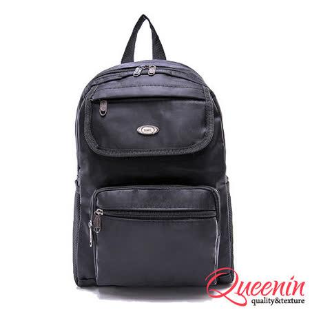 DF Queenin- 紐約時尚簡約質感休閒後背包