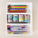 【自由規劃】清新白 3格小物收納盒(3入)