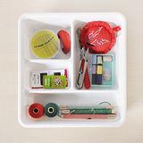 【自由規劃】清新白 4格小物收納盒(3入)