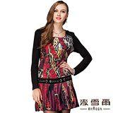 【麥雪爾】印花豹紋造型修身短洋裝