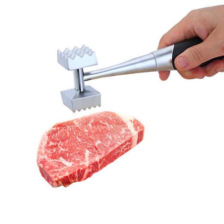 PUSH! 廚房用品外銷版鋅合金敲肉錘豬牛排錘鬆肉錘雙頭碎肉錘