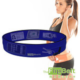 【FlipBelt】美國飛力跑運動腰帶(藍色) 運動 路跑 三鐵 馬拉松