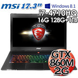 msi微星 GS70 2PC 17.3吋 i7-4710HQ 2G獨顯 專業電競筆電